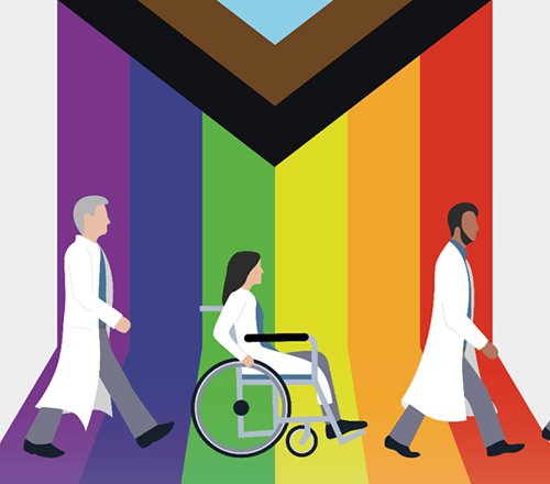 Diverse doctors illustration