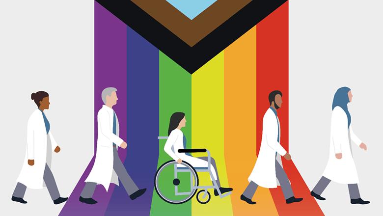 Diverse doctors illustration