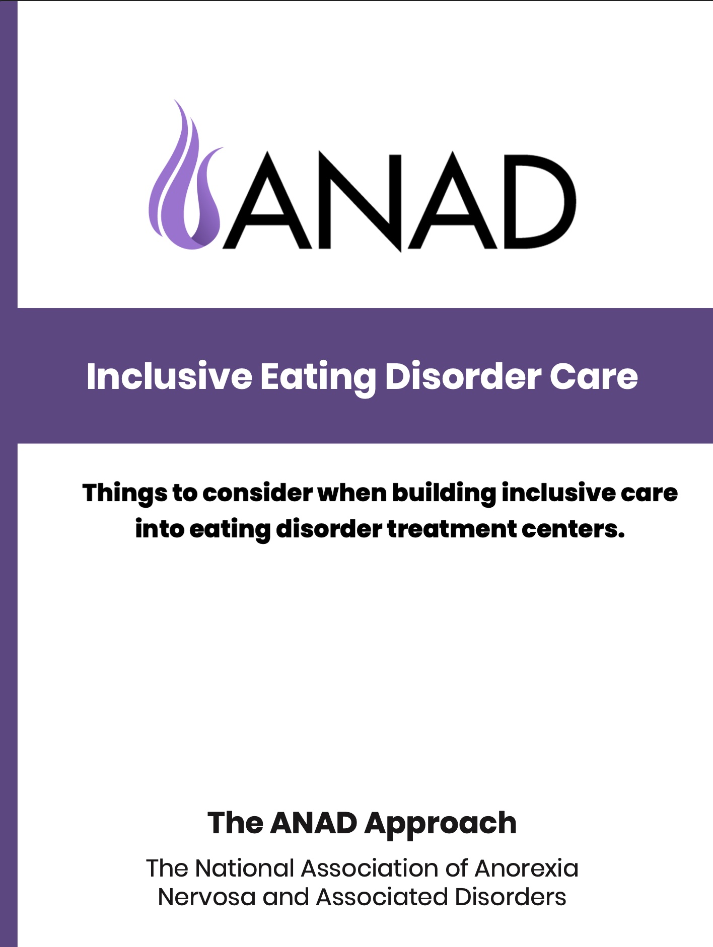 Includive Eating Disorder Care - things to consider PDF